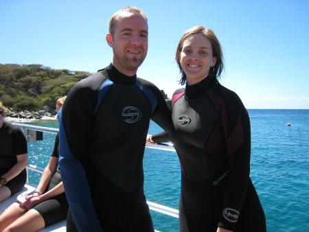 Us in our wetsuits